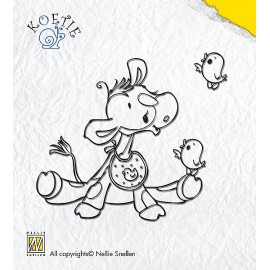 Clear stamp Koetie-with bird