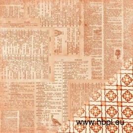 MakingMemories - Sienne Collection - Dictionary Collage, 30x30 cm
