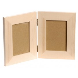 Wooden Picture Frame - Double Hinged, 17 cm x 13,4 cm