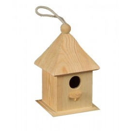 Wooden Birdhouse #2, 12 cm x 12 cm x 20 cm