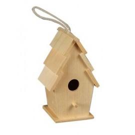 Wooden Birdhouse #3, 12 cm x 10 cm x 20 cm