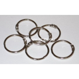 Book Binding Rings - Silver, Ø 3,7 cm, 6 pcs.
