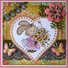 Clear stamps Hoppie's - Flowers