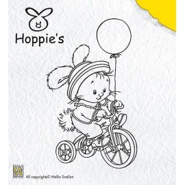 Clear stamps Hoppie's - Biking