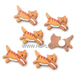 Decorations wood cats 3CM / 8 PC