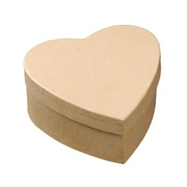 Cardboard Box - Heart, natural, 9 cm x 9 cm x 4cm