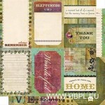 Cosmo Cricket - Fleuriste Collection - Journaling Cards, 30x30 cm