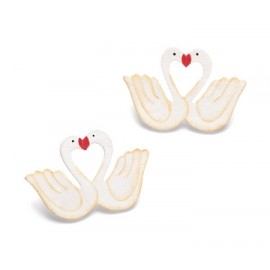 Decorations wedding swans couple 5CM / 10 PC