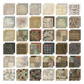 Tim Holtz - Idea-ology Paper Stack Crowded Attic, 30,5x30,5 / 36 sh