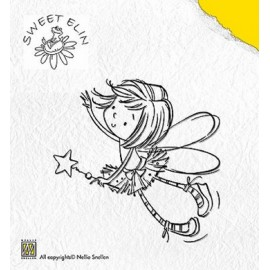 Clear stamp Sweet Elin,  Star , 6,3X5,7CM