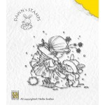 Clear stamp Christmas with Dawn ,Take a present,7,6X7CM