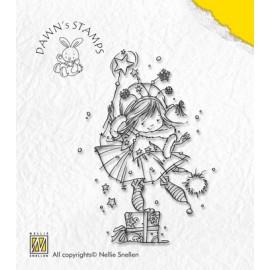 Clear stamp Christmas with Dawn , Hokey-pokey, 6,4X9CM