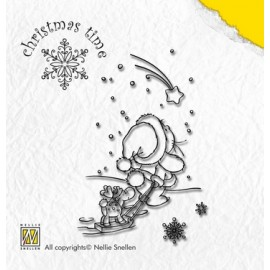 Clear stamp Christmas Time , Falling Star ,5,4X8,1CM