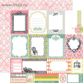 Echo Park Paper Co. - Victoria Gardens Collection - Journaling Cards, 30x30 cm