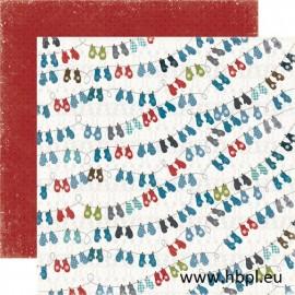 Echo Park Paper Co. - Winter Park Collection - Mittens, 30x30 cm