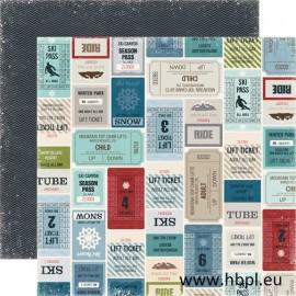 Echo Park Paper Co. - Winter Park Collection - Lift Tickets, 30x30 cm