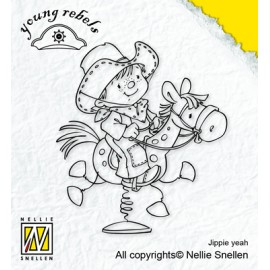 Clear stamp Young Rebels , Jippie yeah, 7,5X6,8CM