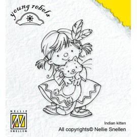Clear stamp Young Rebels , Indian kitten, 7,1X5CM