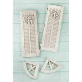 Shabby chic large window closers / 4 pcs