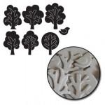 Maya Road - Chipboard Set Mini trees / 28 pcs