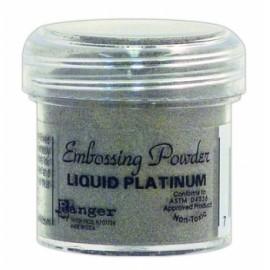 Embossing powder - liquid platinum / 17 gr