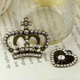 Vintage trinkets crown/heart  2 pcs. Prima Marketing Inc.