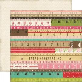 Echo Park Paper Co. - This & That Collection - Yardsticks, 30x30 cm