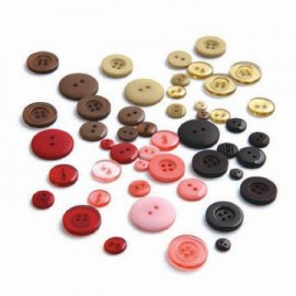 Colored Buttons Bittersweet, 66 pcs