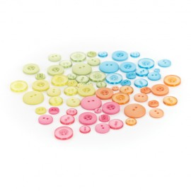 Colored Buttons Out of Print, 66 pcs