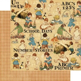 Graphic 45 - An ABC Primer Collection - Games and Playtime, 30x30 cm