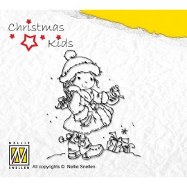 Clear Stamps Christmas Kids - christmas birdie