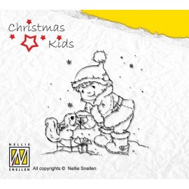 Clear Stamps Christmas Kids - present for you