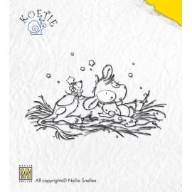 Clear stamps Koetie sweet dreams, 5,6x9 cm