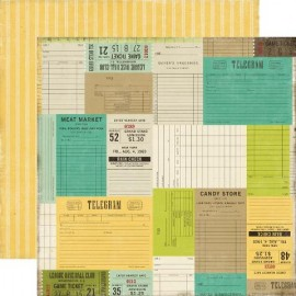 Echo Park Paper Co. - This & That Collection - Tickets Please, 30x30 cm
