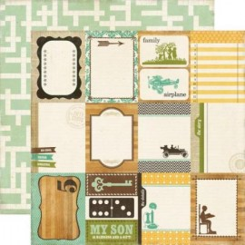Echo Park Paper Co. - This & That Collection - Journaling Cards, 30x30 cm