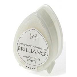 Brilliance Pigment Ink Pad - Moonlight White, 3,5x5 cm