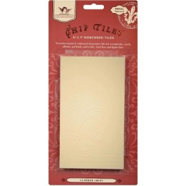 Glimmer Chip Tiles - Regal Embossed, 10,1x 17,7 cm, 6 pcs.