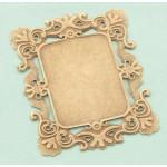 Metal Frame - Gold Rectangle Flower