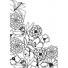 Embossing Folder - Flower Corner
