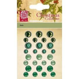 Christmas Brads - green, 28 pcs.
