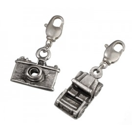 Charm Pendant set , Photo camera , car, 2 pcs
