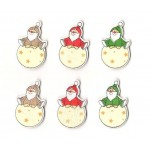 X-mas Decoration Santa Claus, 4,5 x 2,8 cm / 6 pcs.