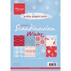 Paper bloc Eline's Scandinavian Winter , A5 / 32 SH