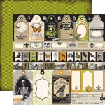 Echo Park Paper Co. - Chillingsworth Manor Collection - Apothecary Labels, 30x30 cm