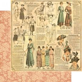Graphic 45 - A Ladies' Diary Collection - La Gazette, 30x30 cm