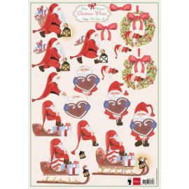 Decoupage sheets Christmas Wishes nr.4/A4