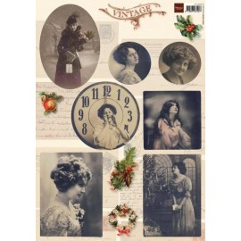 Marianne Design - A4 Cardtoppers Sheet - Vintage Christmas