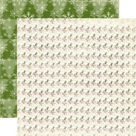 Echo Park Paper Co. - Very Merry Christmas Collection - Snowman, 30x30 cm