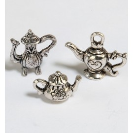 Metal Charms - Tea Time #1, 3 pcs.
