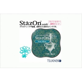 Ink Pad StazOn Midi - Teal Blue